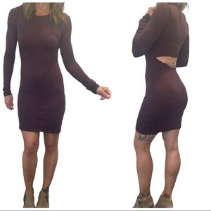 Aritzia Wilfred Free Knit Bodycon Cutout Dress Sm